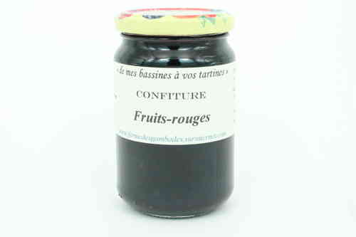 CONFITURE de FRUITS ROUGES 370g